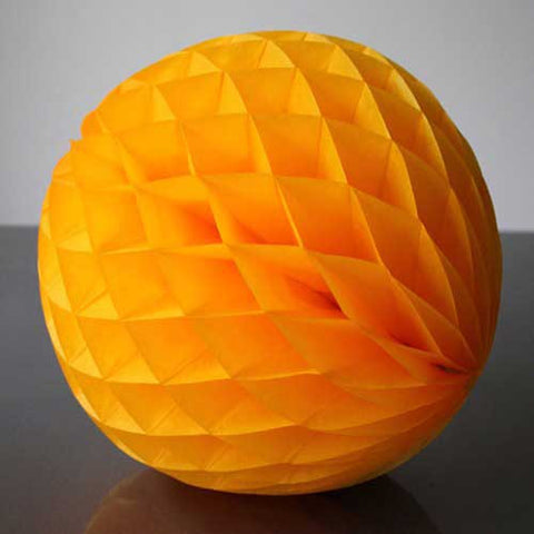 Paper Honeycomb Balls Orange - 8cm & 30cm