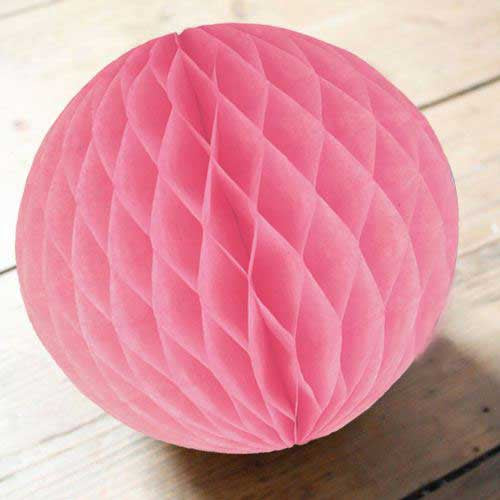 Paper Honeycomb Balls Light Pink - 8cm