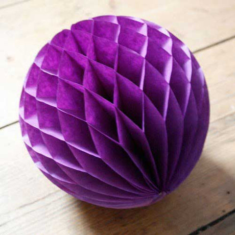 Paper Honeycomb Balls Purple - 8cm, 20cm & 25cm