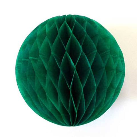 Paper Honeycomb Balls Kelly Green - 8cm, 20cm, 25cm & 30cm
