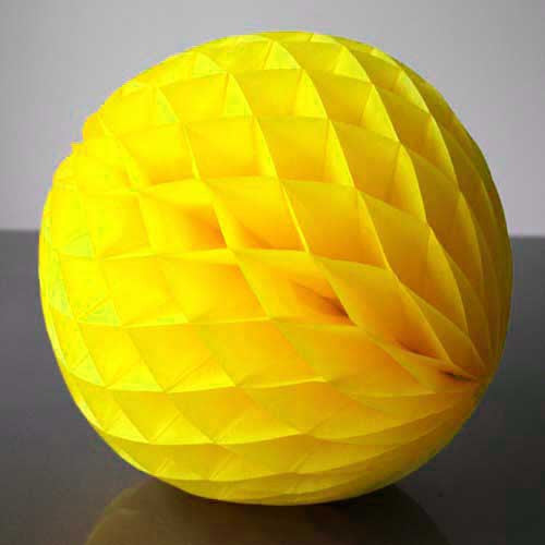 Paper Honeycomb Balls Yellow - 8cm & 20cm