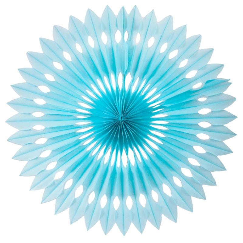 Party Decorative Honeycomb Tissue Paper Fan Light Blue (30cm)