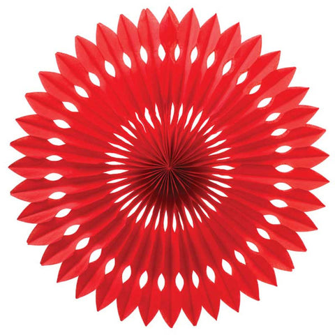 Party Decorative Honeycomb Tissue Paper Fan Red (30cm)
