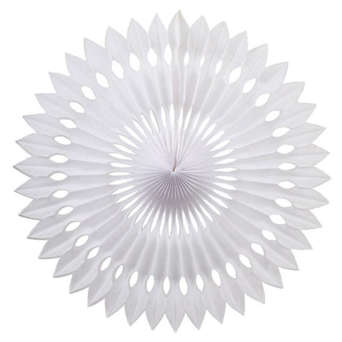 Party Decorative Honeycomb Tissue Paper Fan White (30cm)