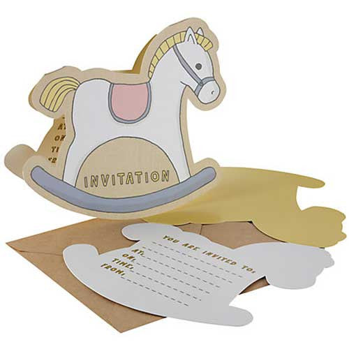 Rock-a-bye Baby Pack of 10 Invitation Cards & Envelopes