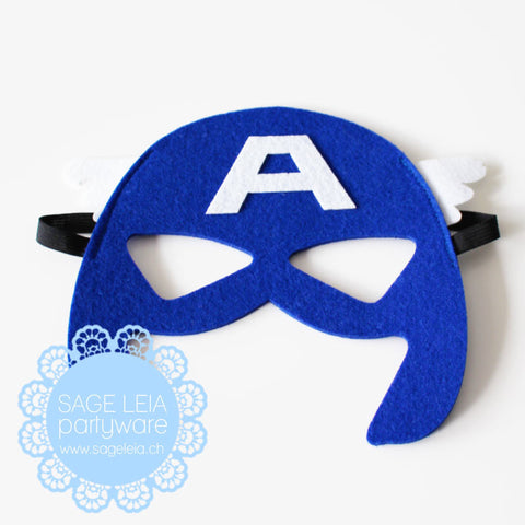 Kids/Young Adult Superhero Felt/Polyester Captain America Party Mask