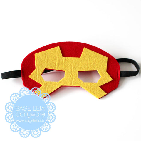Kids/Young Adult Superhero Felt/Polyester Iron Man Party Mask