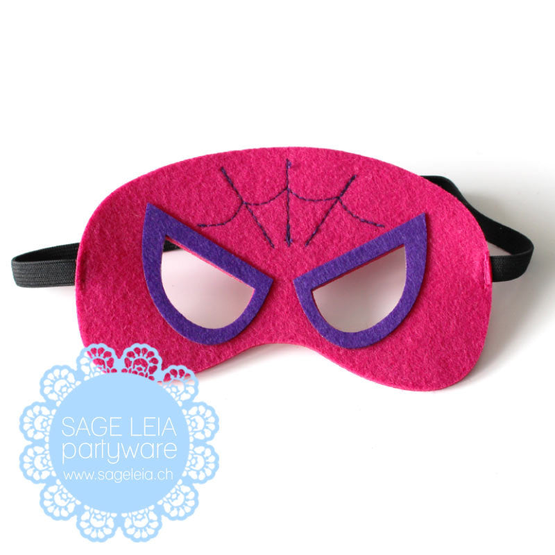 Kids/Young Adult Superhero Felt/Polyester Spidergirl Pink Party Mask