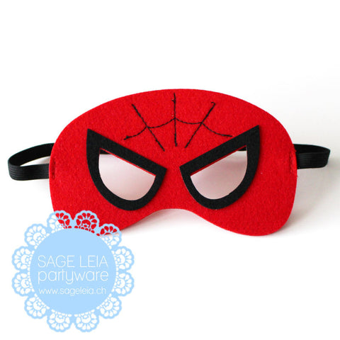 Kids/Young Adult Superhero Felt/Polyester Spiderman Party Mask