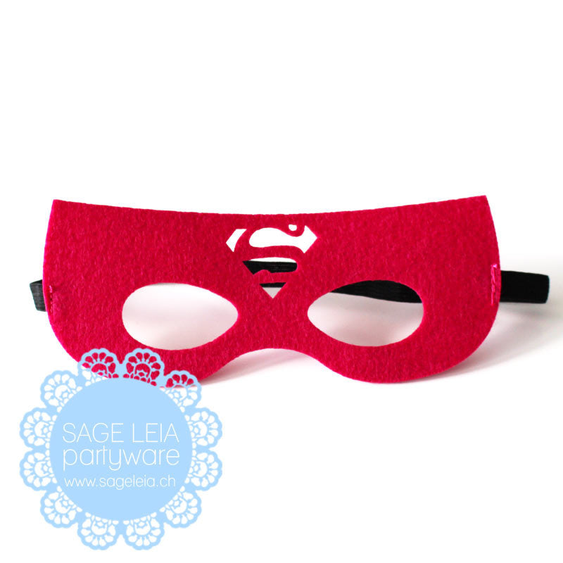 Kids/Young Adult Superhero Felt/Polyester Supergirl Party Mask/Crown ...