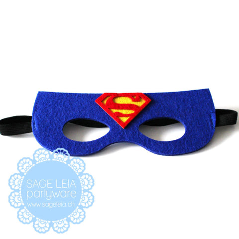 Kids/Young Adult Superhero Felt/Polyester Superman Party Mask