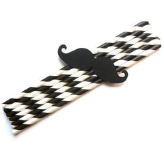 Pack of 25 Party Photo Props Paper Black Moustaches Decoration