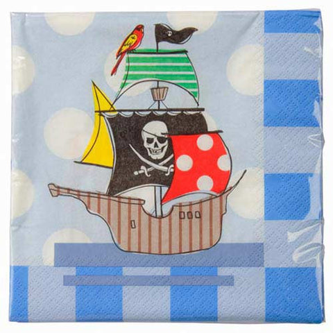 Aye Aye Captain Me Pirate Pack of 20 Party Napkins