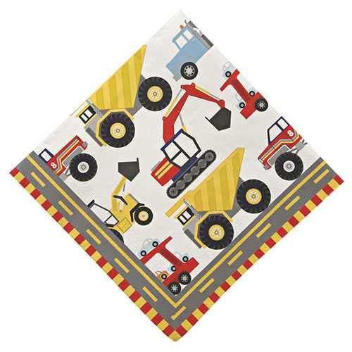 Big Rig Construction Pack of 20 Party Napkins