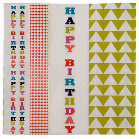 Birthday Bash Pack of 20 Party Napkins