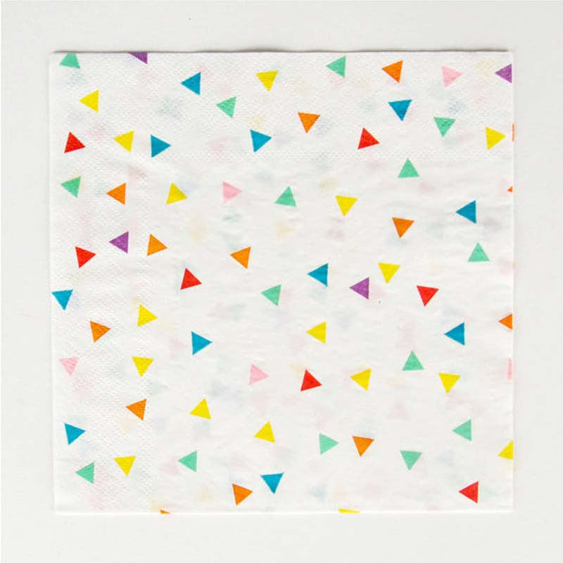 Pack of 20 Multi-color Confetti Print Pattern Party Napkins