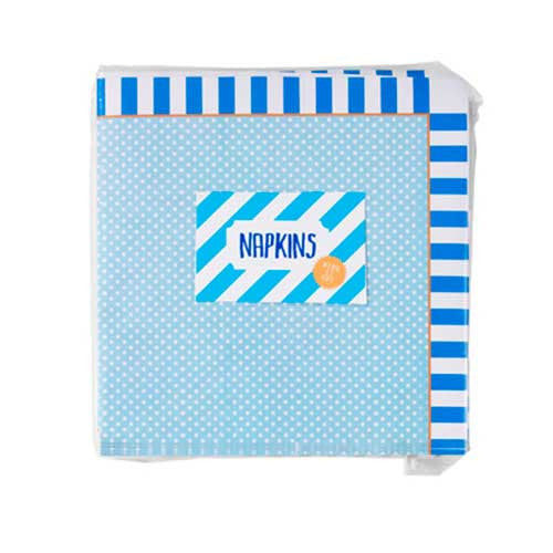 Cool Blue Pack of 20 Party Napkins