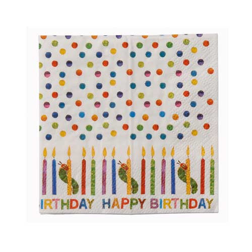 The Very Hungry Caterpillar Pack of 30 Party Napkins
