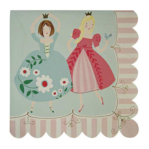 I'm a Princess Pack of 20 Party Napkins with Scallop Edge