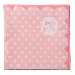 Pink n Mix Polka Dots Pack of 20 Party Napkins with Scallop Edge