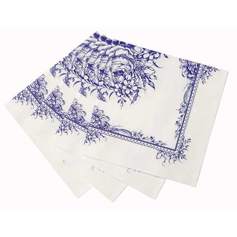 Porcelain Blue Pack of 20 Party Napkins