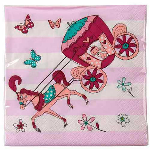 Princess & Kitty Pack of 20 Party Napkins