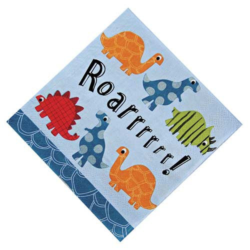 Roarrrrr Dinosaur Pack of 20 Party Napkins