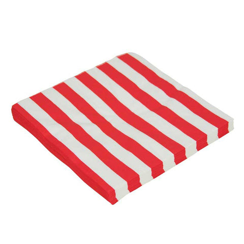 Candy Stripes Red Pack of 20 Lunch Napkins