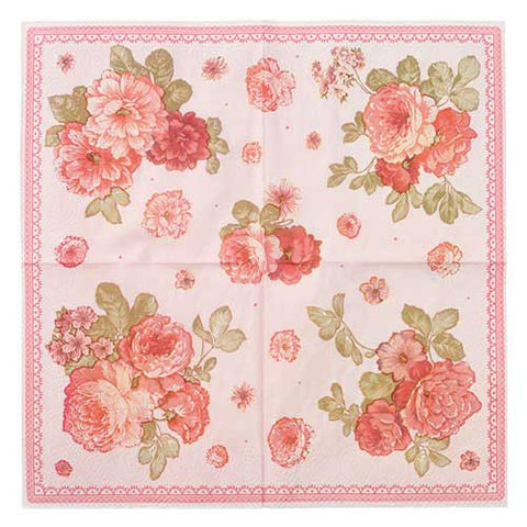 Truly Scrumptious Shabby Chic Vintage Floral Pack of 30 Party Napkins