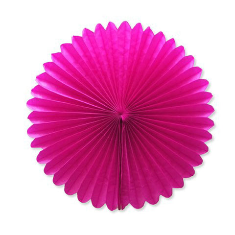 Party Decorative Tissue Paper Fan Daisy Flower Medallion Fuchsia Hot Pink (30cm)