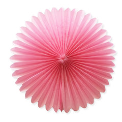 Party Decorative Tissue Paper Fan Daisy Flower Medallion Light Pink (30cm)
