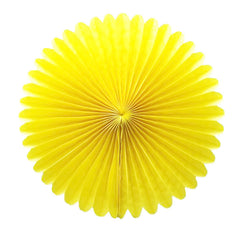 Party Decorative Tissue Paper Fan Daisy Flower Medallion Yellow (30cm)
