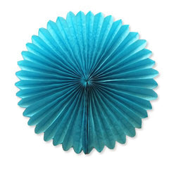 Party Decorative Tissue Paper Fan Daisy Flower Medallion Sky Blue (25cm)