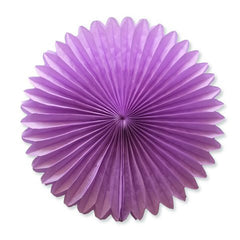 Party Decorative Tissue Paper Fan Daisy Flower Medallion Violet Purple (30cm)
