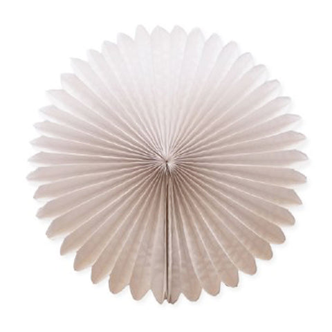 Party Decorative Tissue Paper Fan Daisy Flower Medallion White (30cm)