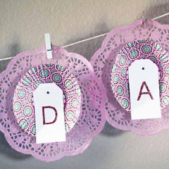 Pack of 20 Lavender Purple Lace Embossed Paper Doilies (11.4cm)