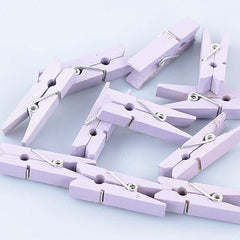 Pack of 25 Mini Wooden Decoration Pegs Lavender Purple