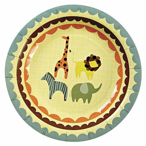Animal Parade Pack of 12 Party Plates (18cm)