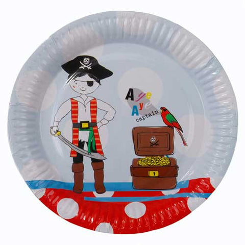 Aye Aye Captain Me Pirate Pack of 8 Party Plates (18cm)