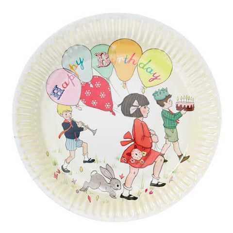 Belle & Boo Nostalgic Pack of 8 Party Plates (23cm)