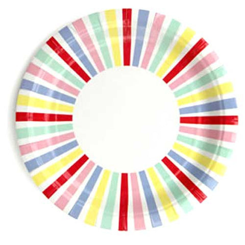 Carnival Candy Stripes Pack of 10 Party Plates (23m)