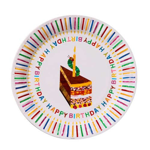 The Very Hungry Caterpillar Pack of 8 Happy Birthday Party Plates