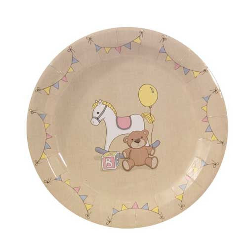 Rock-a-bye Baby Pack of 8 Party Plates (23cm)