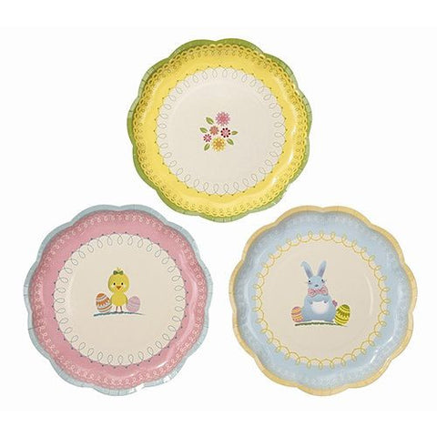 Springtime Bunny Pack of 12 Party Plates (18cm)