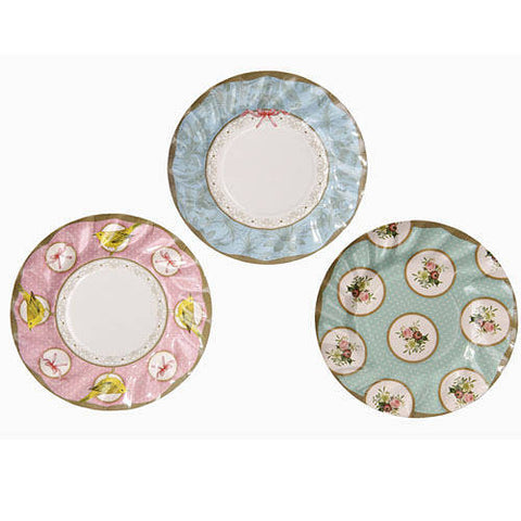 Frills & Frosting Pack of 12 Dainty Tea Party Plates (18cm)