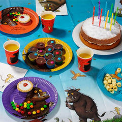 The Gruffalo Pack of 8 Party Plates in 4 Individual Designs (18cm)
