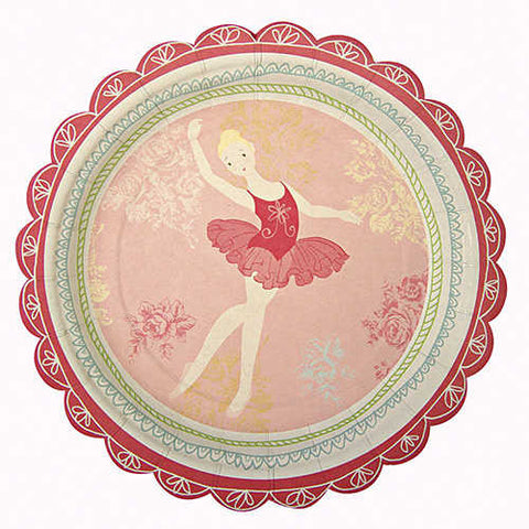 Little Ballet Dancer Pack of 12 Party Plates (18cm)