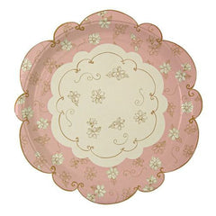 Love in the Afternoon Luxurious Vintage Pack of 12 Party Plates (23cm)