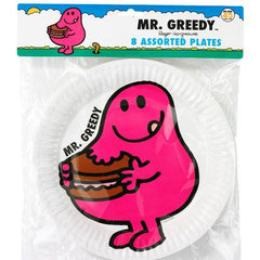 Mr. Men Pack of 12 Fun Party Plates (18cm)