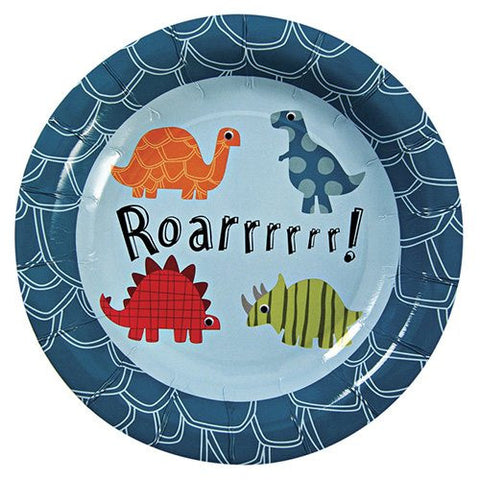 Roarrrrr Dinosaur Pack of 12 Party Plates (18cm)